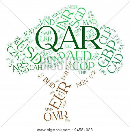 Qar Currency Indicates Exchange Rate And Fx