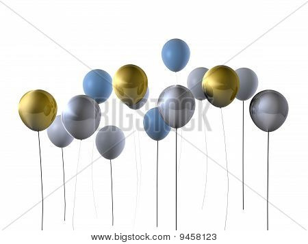 Gold & Silver Party Balloons