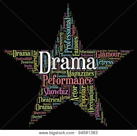 Drama Star Represents Stage Theaters And Melodramas