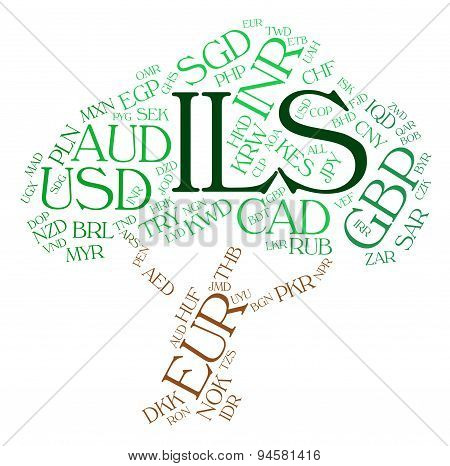 Ils Currency Means Israel Shekel And Coinage
