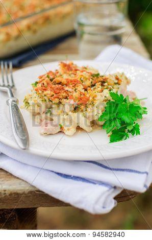 Tuna, Leek, Mornay And Orange Pasta Bake (macaroni And Cheese)