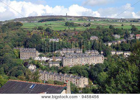 Village on a Yorkshire hillside.
