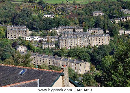 Village on a Yorkshire hillside