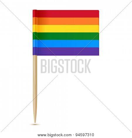 Rainbow flag. Gay pride. Toothpick