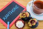 Xanthone is an antioxidant compound found in the pericarp of the mangosteen poster