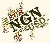 Ngn Currency Means Foreign Exchange And Banknote poster