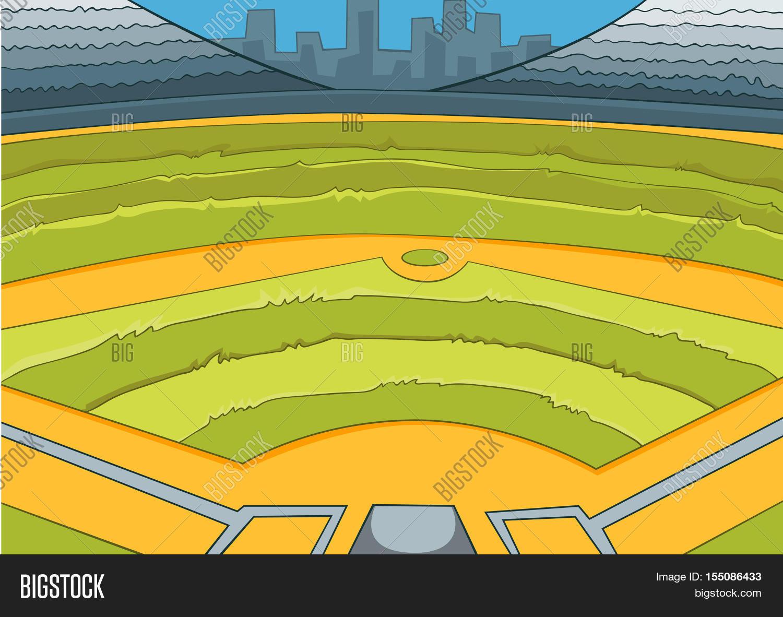 hand drawn cartoon image photo free trial bigstock rh bigstockphoto com cartoon pics of baseball field Funny Baseball Cartoons