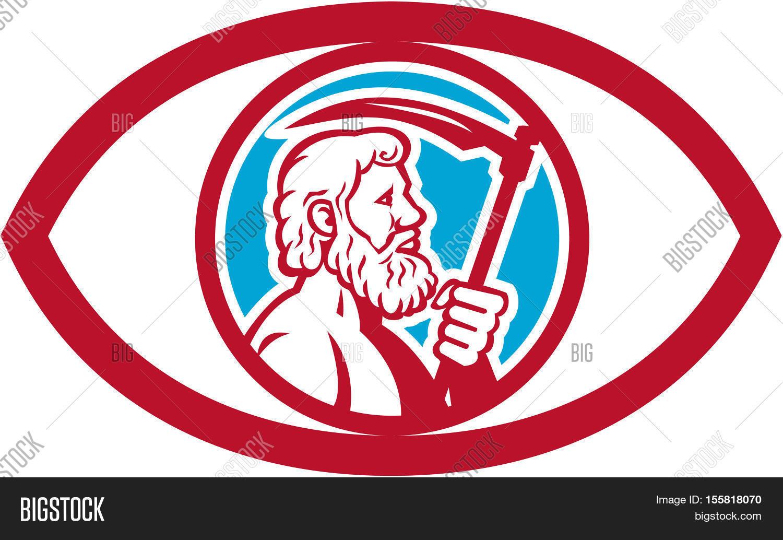 Illustration cronus kronos greek image photo bigstock illustration of cronus or kronos greek god and leader of titans holding a scythe or a buycottarizona Images
