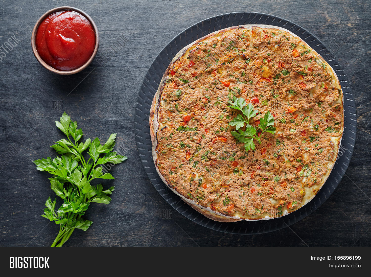 Lahmacun Traditional Image & Photo (Free Trial) | Bigstock
