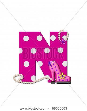 Alphabet Shoe Dive N