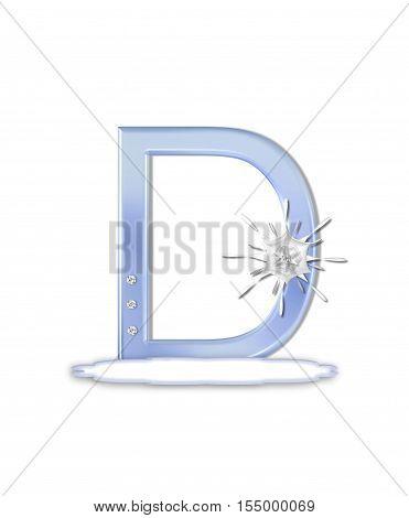 Alphabet Snow Flake D