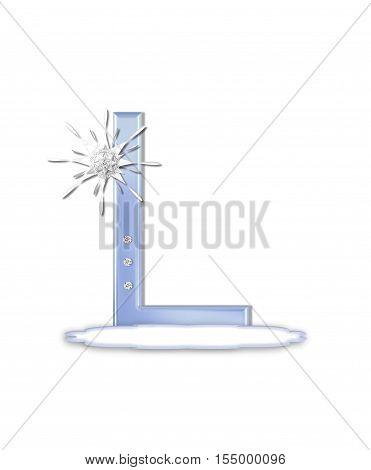 Alphabet Snow Flake L