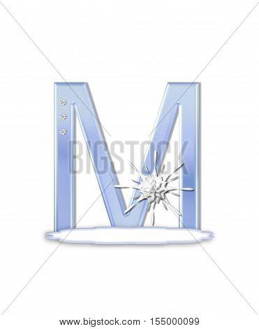 Alphabet Snow Flake M