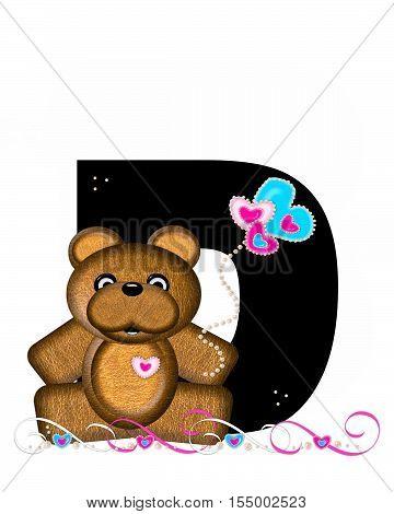 Alphabet Teddy Valentines Cutie D