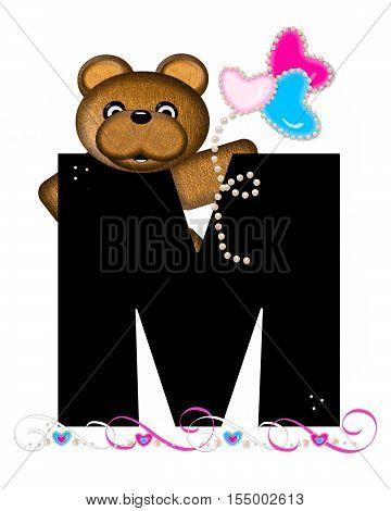 Alphabet Teddy Valentines Cutie M