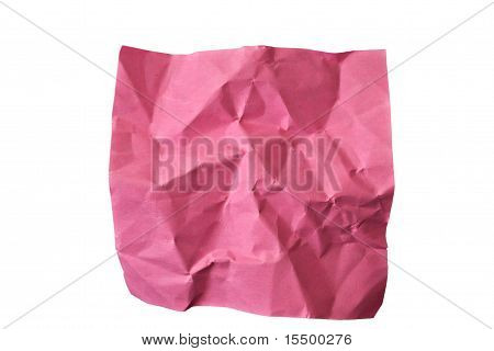 Crumpled Piece Of Red Paper