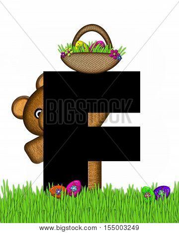 Alphabet Teddy Hunting Easter Eggs F