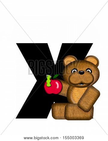 Alphabet Teddy X