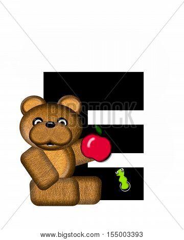 Alphabet Teddy E