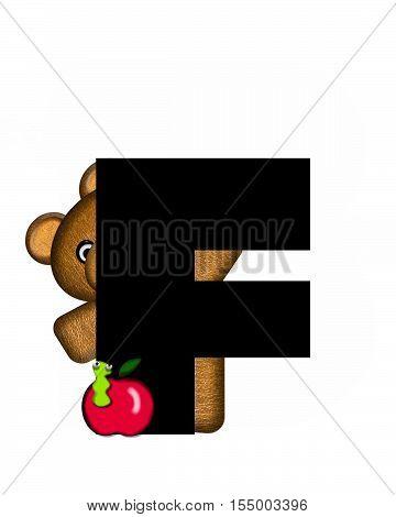 Alphabet Teddy F