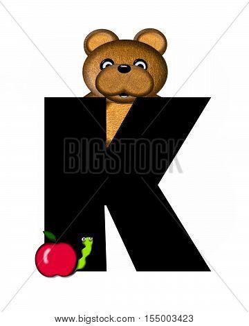 Alphabet Teddy K