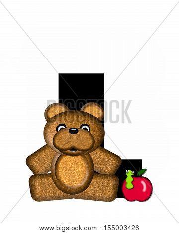 Alphabet Teddy L
