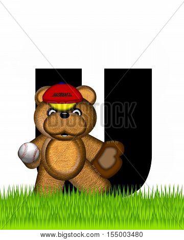 Alphabet Teddy Baseball U