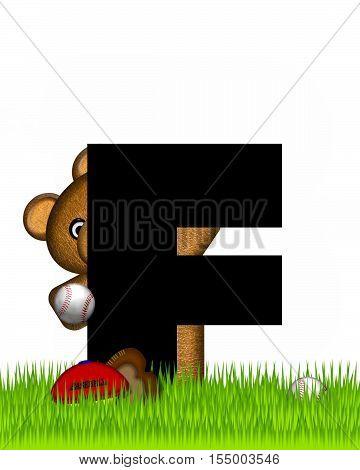 Alphabet Teddy Baseball