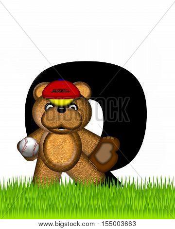 Alphabet Teddy Baseball Q