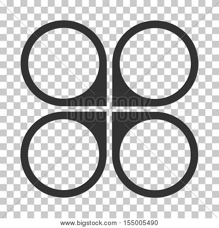 Air Copter interface toolbar icon. Vector pictograph style is a flat symbol, gray color, chess transparent background. poster
