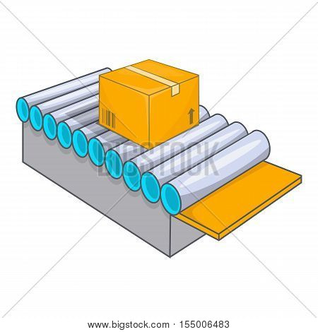 Conveyor system icon. Cartoon illustration of conveyor vector icon for web design
