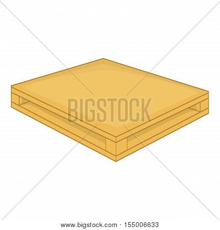 Wooden pallet icon. Cartoon illustration of wooden pallet vector icon for web design