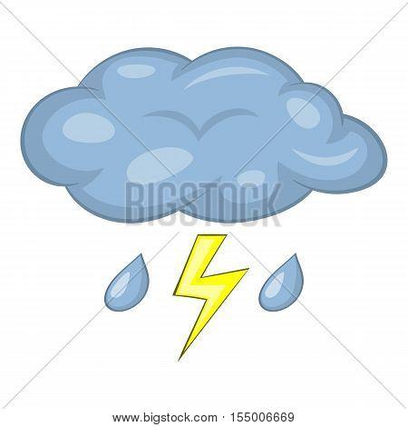 Thunderstorm icon. Cartoon illustration of thunderstorm vector icon for web design