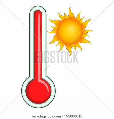Thermometer icon. Cartoon illustration of thermometer vector icon for web design