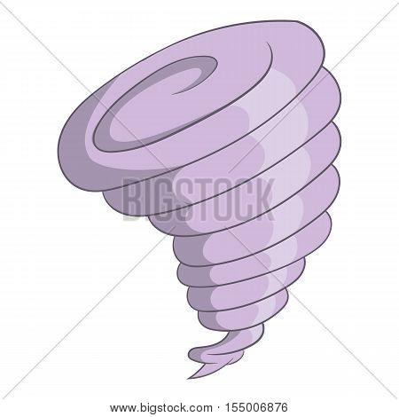 Tornado icon. Cartoon illustration of hurricane vector icon for web design