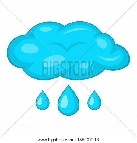 Clouds and rain icon. Cartoon illustration of clouds and rain vector icon for web design