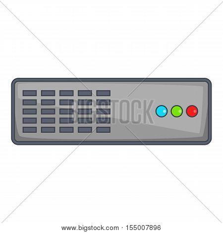 Server icon. Cartoon illustration of server vector icon for web design