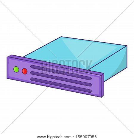 Data storage icon. Cartoon illustration of data storage vector icon for web design