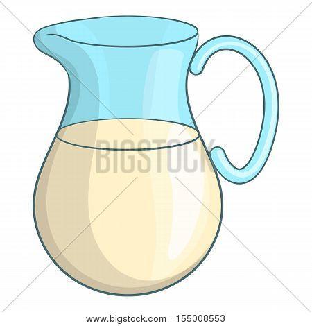 Swiss milk icon. Cartoon illustration of Swiss milk vector icon for web design