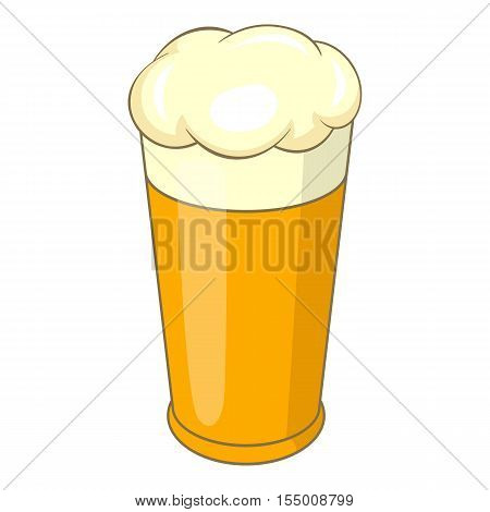 Swiss beer mug icon. Cartoon illustration of beer vector icon for web design