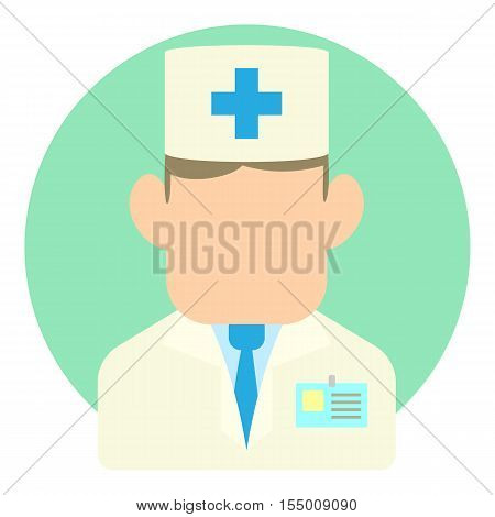 Doctor icon. Flat illustration of doctor vector icon for web