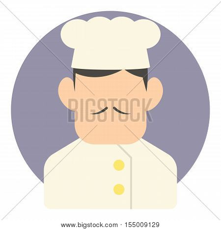 Chef icon. Flat illustration of chef vector icon for web