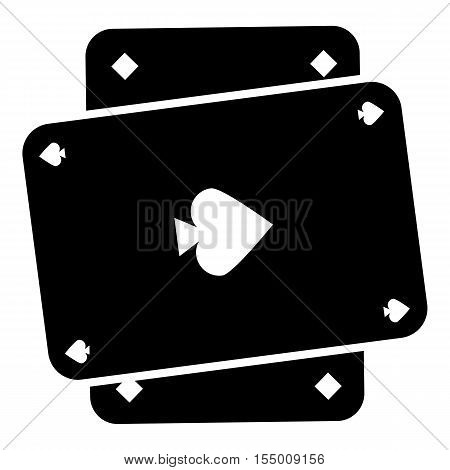 Playing card icon. Simple illustration of playing card vector icon for web