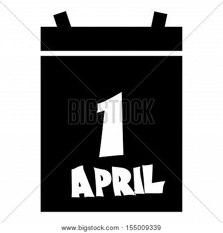 First april calendar icon. Simple illustration of first april calendar vector icon for web