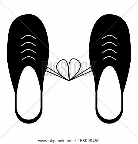 Tied laces on shoes icon. Simple illustration of tied laces on shoes vector icon for web