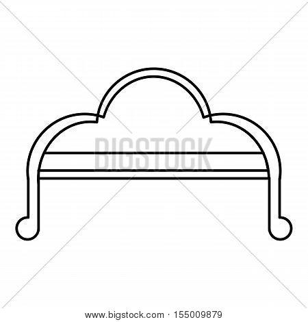 Sofa icon. Outline illustration of sofa vector icon for web