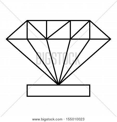 Diamond icon. Outline illustration of diamond vector icon for web