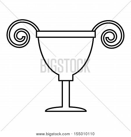 Cup icon. Outline illustration of cup vector icon for web