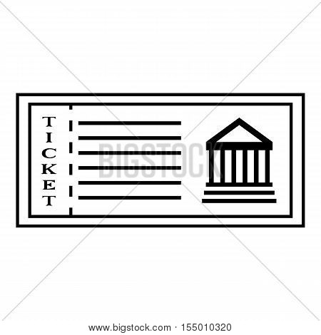 Ticket to museum icon. Outline illustration of ticket to museum vector icon for web