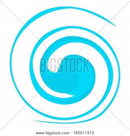Circular wave icon. Cartoon illustration of circular wave vector icon for web
